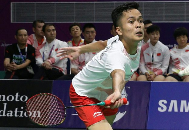 Tunggal putra Indonesia Anthony Sinisuka Ginting. (foto: pbsi)